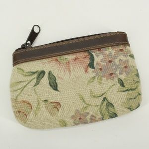 Vintage Small Floral Zipper Coin Purse